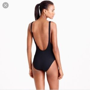 J. Crew NWT Plunging Scoopback One-Piece Swimsuit